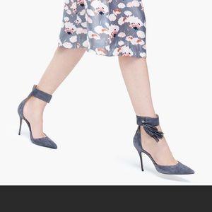 J. Crew purple suede heels size 6.5